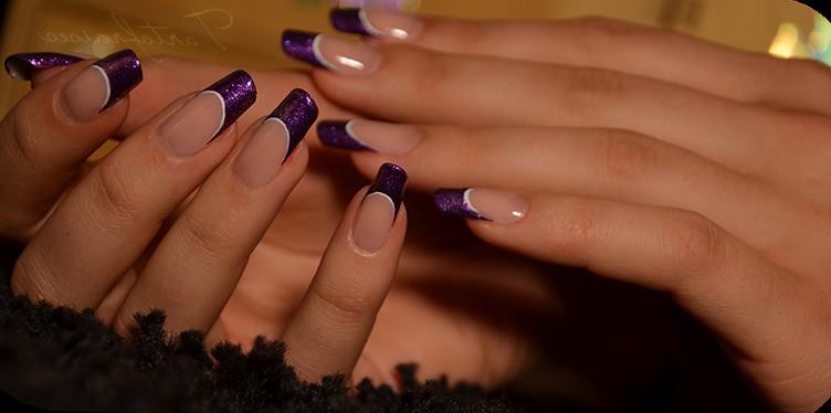 Фото ногти фиолетовый френч