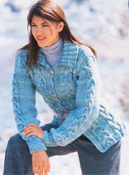 Вязание.Кардиганы,жилеты,свитера